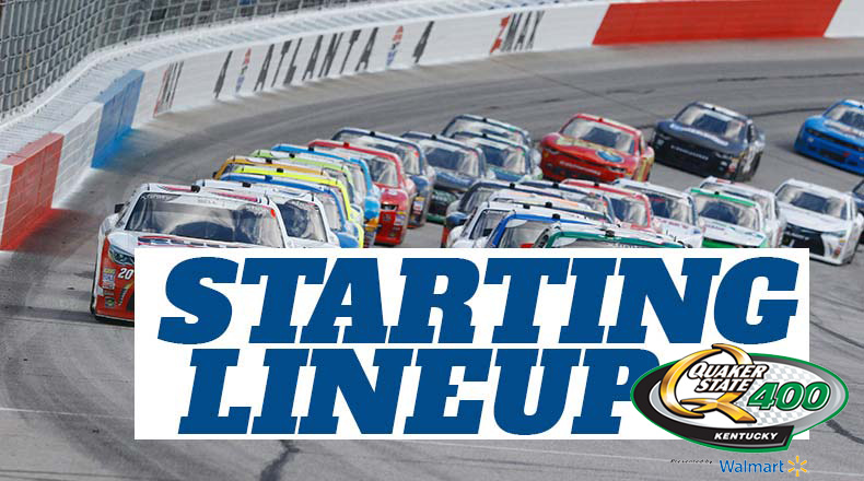 NASCAR Starting Lineup for Saturday's Quaker State 400 at Kentucky Speedway – Athlon Sports