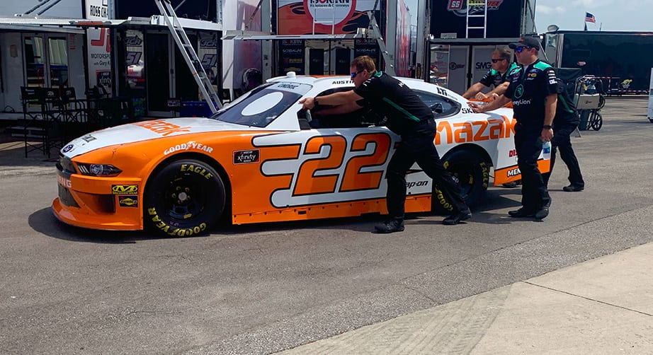 No. 22 Xfinity Series team issued L1 penalty; crew chief escorted from garage – NASCAR