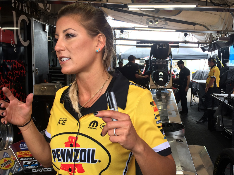 Video: Leah Pritchett escapes injury as NHRA Top Fuel dragster blows tire at Chicagoland – autoweek.com