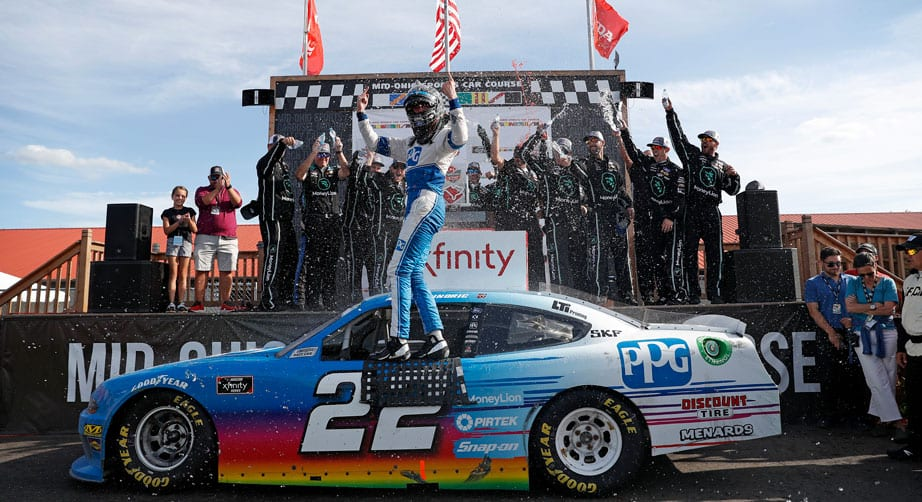 Austin Cindric completes Xfinity road-course repeat with Mid-Ohio win – NASCAR