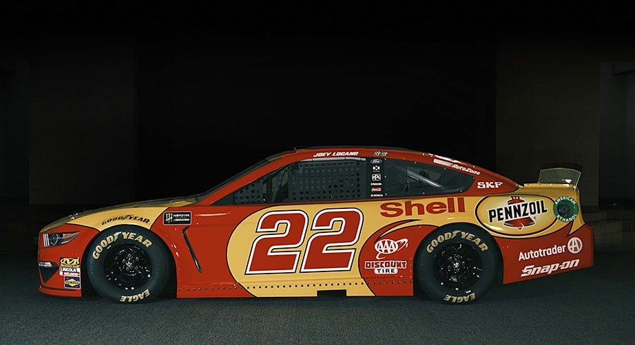 Brittany Logano wears the fire suit in revealing No. 22 Ford for Darlington – NASCAR