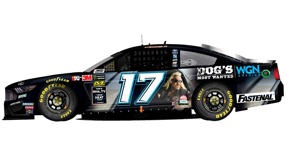 'Dog's Most Wanted' to ride with Stenhouse Jr. at Bojangles' Southern 500 – NASCAR