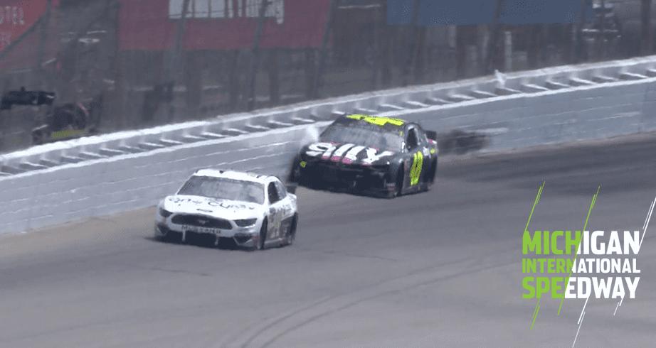 Jimmie Johnson hits the wall early at Michigan – NASCAR