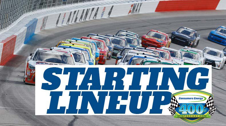 NASCAR Starting Lineup for Sunday's Consumers Energy 400 at Michigan International Speedway – Athlon Sports
