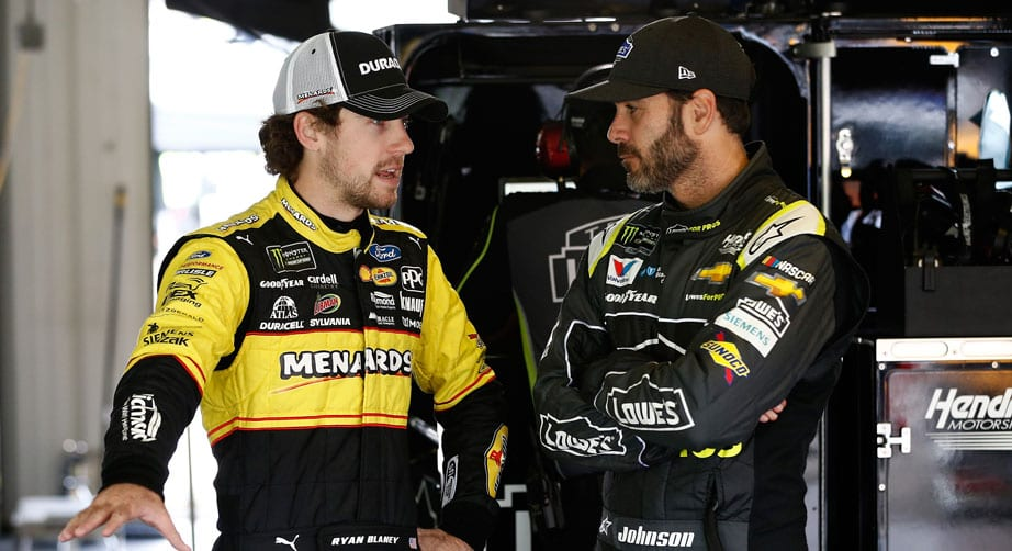 Report: Blaney, Johnson make peace over beers at Michigan – NASCAR