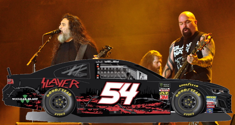 """Slayer NASCAR Sponsorship Pulled Over """"Long-Time Sponsor Concerns"""" – Digital Music News"""