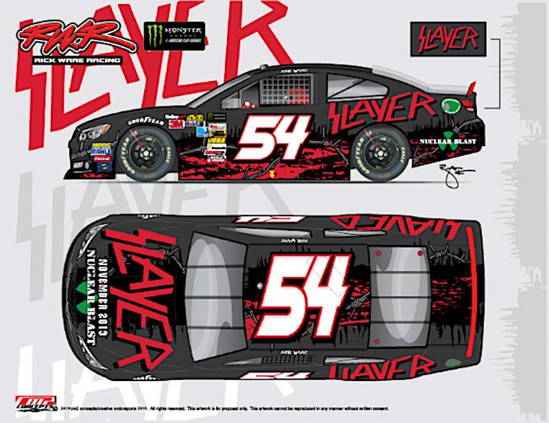 Slayer's iconic logo will cover No. 54 car at NASCAR race ahead of final tour leg – Consequence of Sound