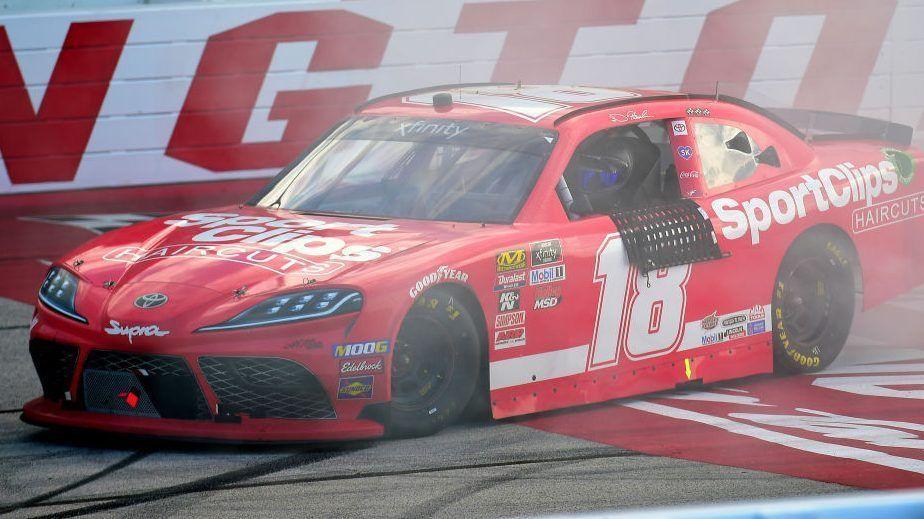 Cole Custer declared Darlington winner after NASCAR DQ's Denny Hamlin's car – Yahoo Sports