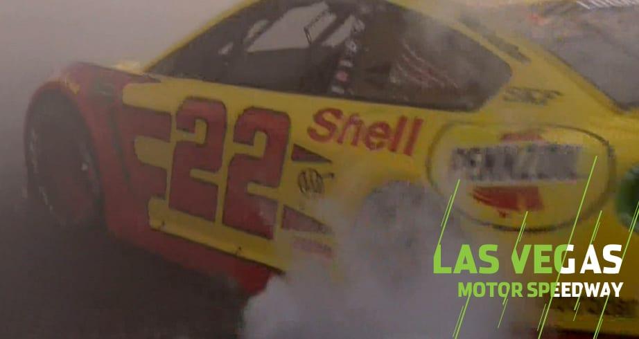 Joey Logano earns best Vegas burnout – NASCAR