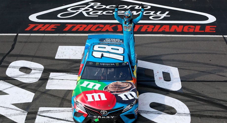 Kyle Busch hangs on at Pocono, ties Rusty Wallace on all-time list with 55th win – NASCAR