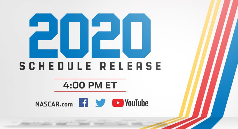 NASCAR.com to unveil 2020 Cup Series schedule with live show – NASCAR