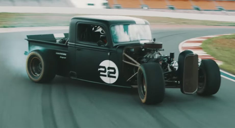 Watch: Joey Logano takes 1935 hot rod for a Roval spin – NASCAR