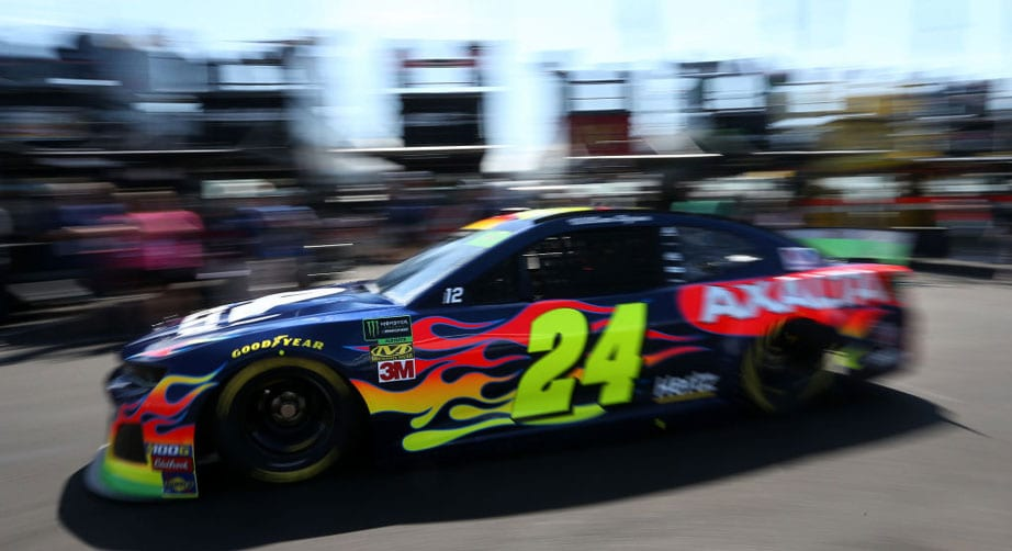 Byron holds off Logano to win Stage 1 in Talladega playoff race – NASCAR