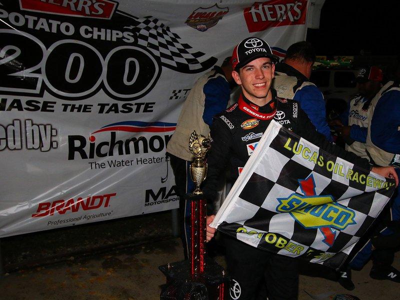 Chandler Smith wins rain-shortened ARCA race at Lucas Oil Raceway – autoweek.com
