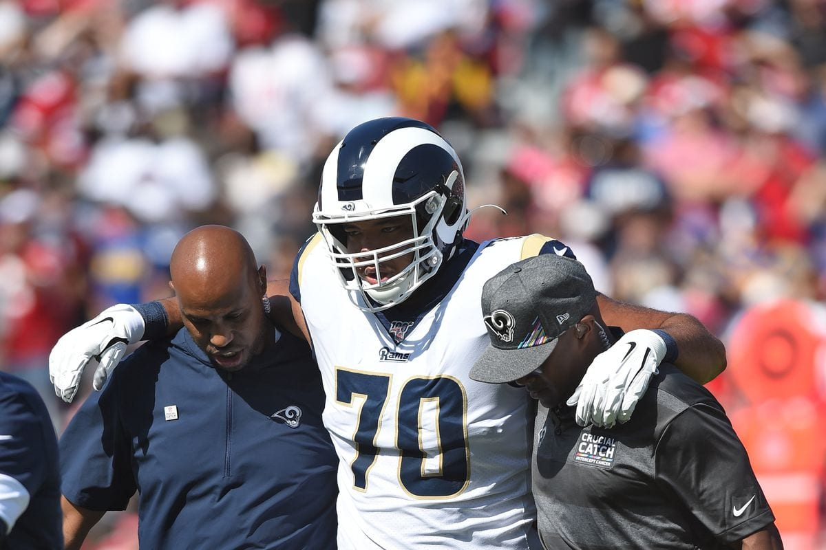 Los Angeles Rams Guard Joseph Noteboom Out for Year With Knee Injury • The Game Haus – The Game Haus