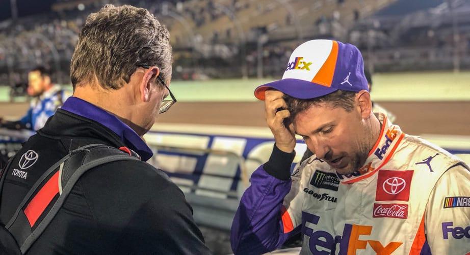 Denny Hamlin's title run hampered by car trouble in Miami – NASCAR