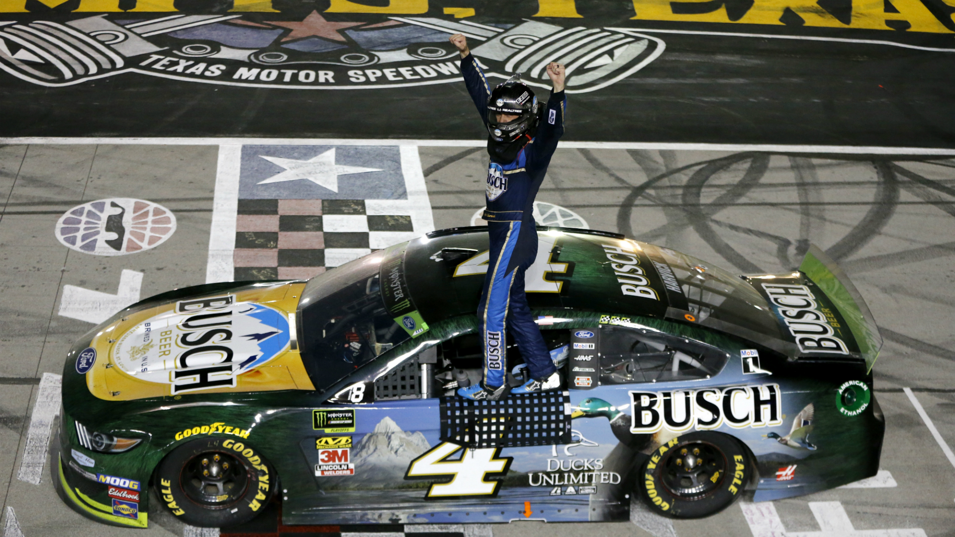 NASCAR at Texas results: Kevin Harvick wins from the pole in stop-and-start race – Sporting News