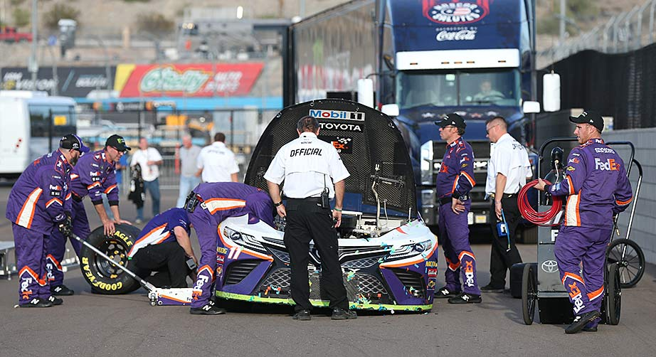 Race-winning No. 11 of Denny Hamlin passes post-race inspection at Phoenix – NASCAR