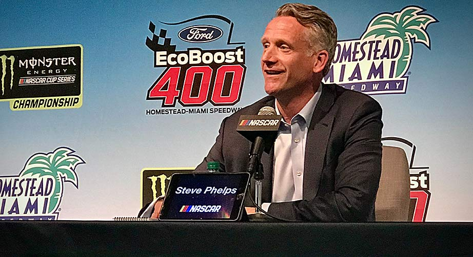 Steve Phelps encouraged by positive signs at end of first season as NASCAR President – NASCAR