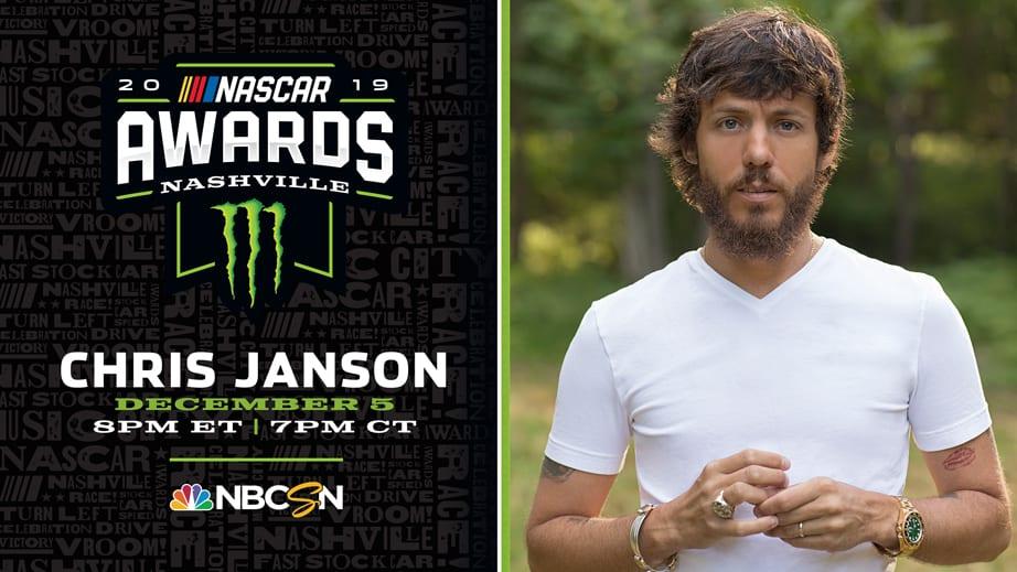 Chris Janson to perform at NASCAR Awards – NASCAR