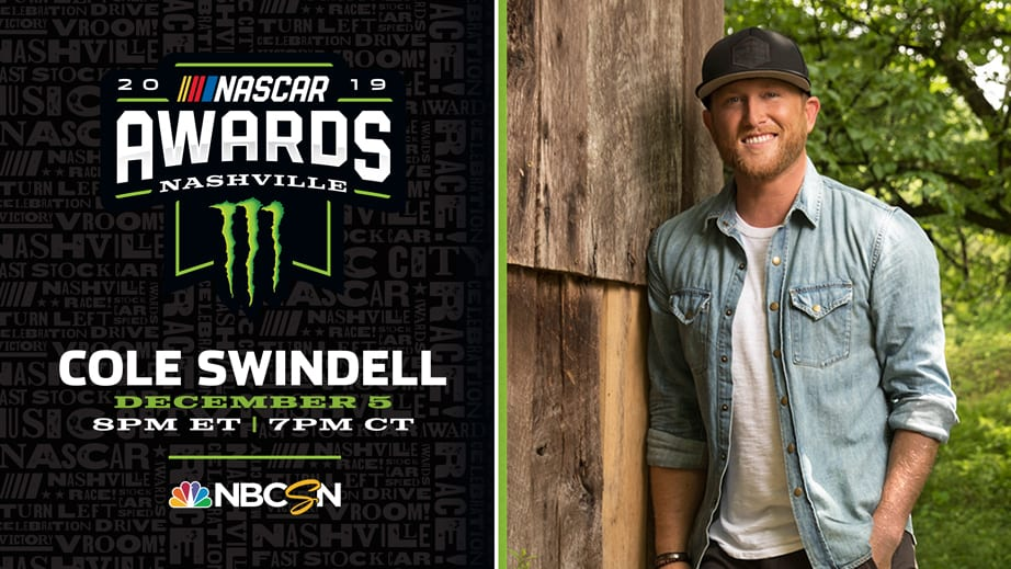 Cole Swindell to perform at NASCAR Awards – NASCAR