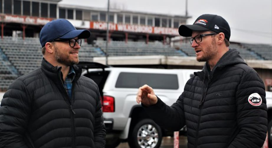 Dale Jr., crew clean up North Wilkesboro Speedway for iRacing track scan – NASCAR