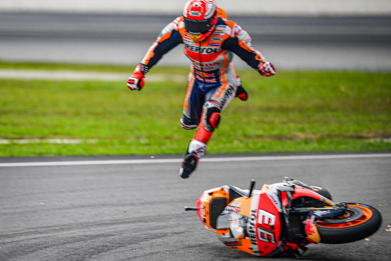 Marquez escapes injury after Q2 highside – The Checkered Flag
