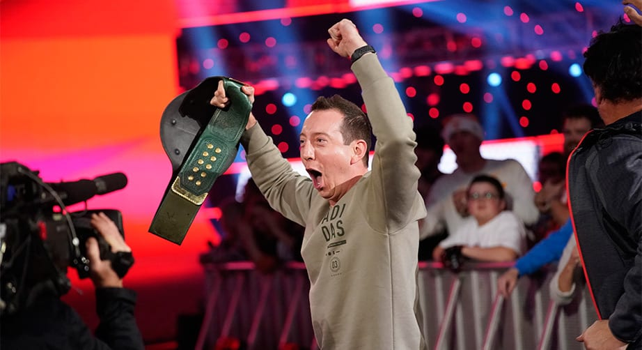 Two-time champion Kyle Busch wins WWE title in Nashville – NASCAR