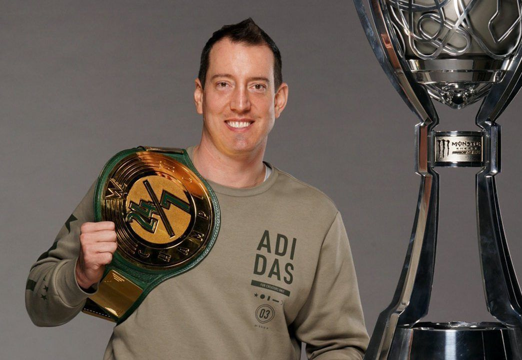 Kyle Busch 'wins' WWE title, only to lose it moments later – Yahoo Sports