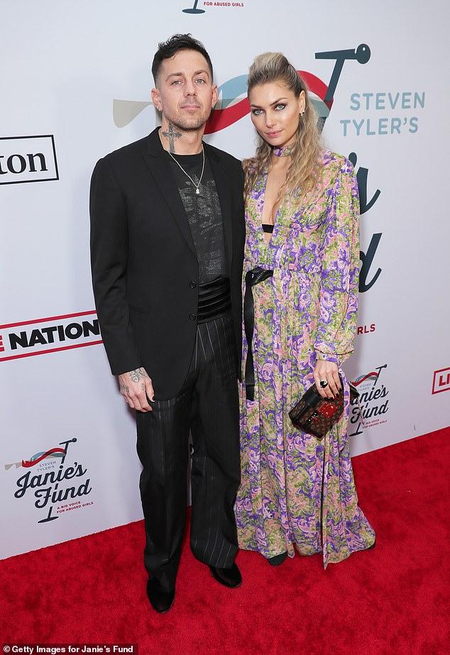 Model Jessica Hart and NASCAR driver boyfriend James Kirkham at Steven Tyler's Grammy Awards Party – Daily Mail