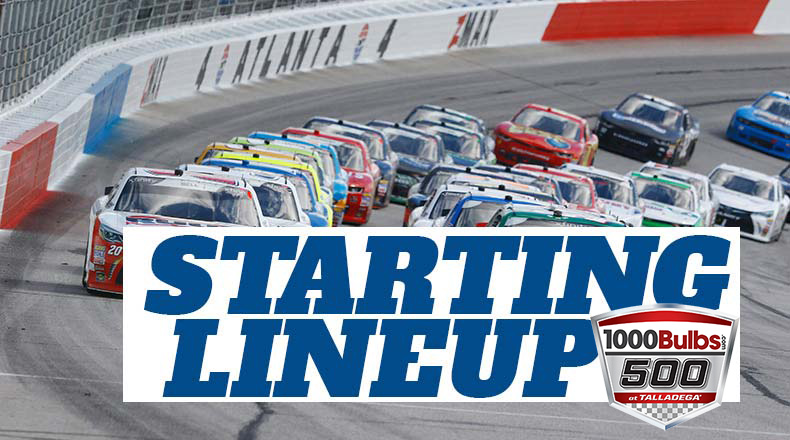 NASCAR Starting Lineup for Sunday's 1000Bulbs.com 500 at Talladega Superspeedway – Athlon Sports