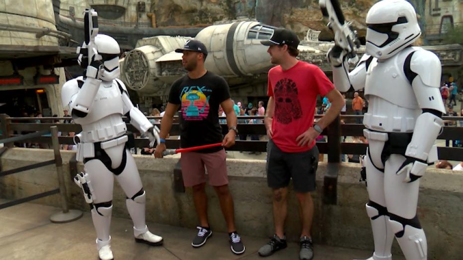 NASCAR driver visit 'Star Wars: Galaxy's Edge' at Disney – FOX 35 Orlando