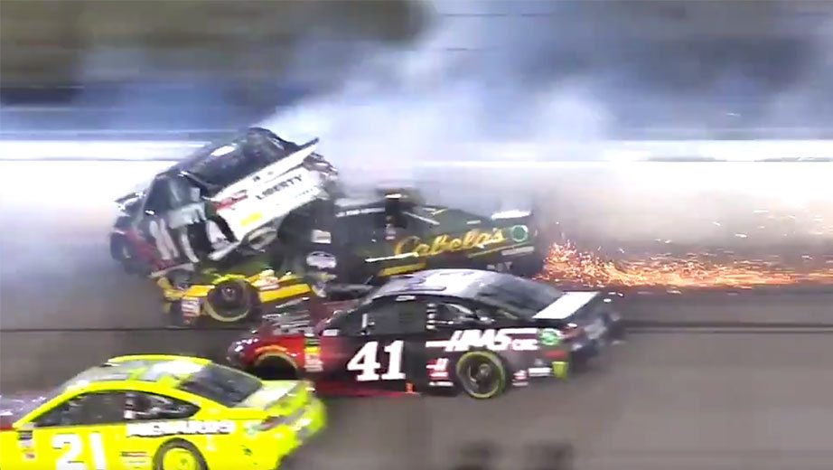 A Heavy Multicar Crash Late In Saturdayu0027s Monster Energy NASCAR Cup Series  Race Snared William Byron, Clint Bowyer And More, Forcing A Red Flag With  14 Laps ...